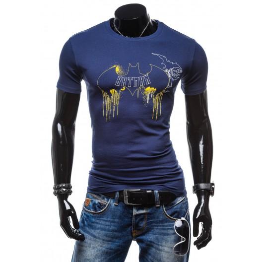 Pánske tričko granátovej farby s krátkym rukávom