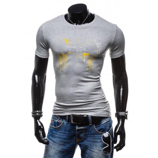 Svetlo sivé pánske tričko s potlačou Batman