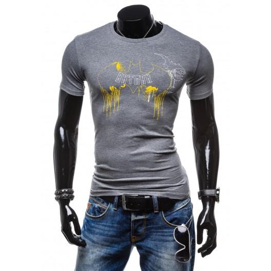 Moderné pánske tričko antracitovej farby