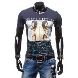 Tmavo modré tričko pre pánov