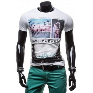 Pánske tričká na leto sivej farby