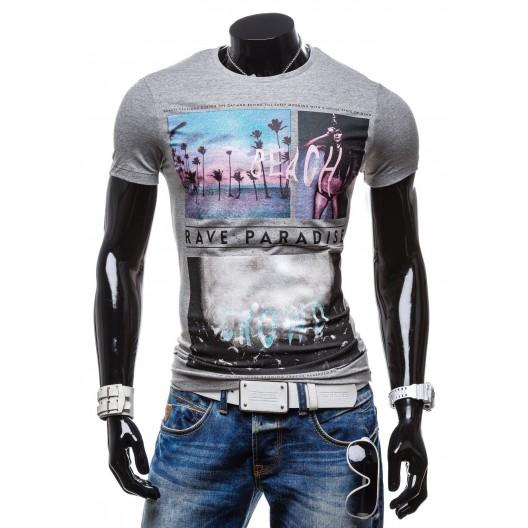 Tričko pre mužov tmavo sivej farby