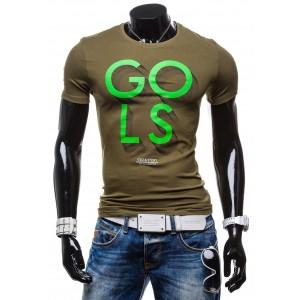 Tričko pre pánov khaki farby