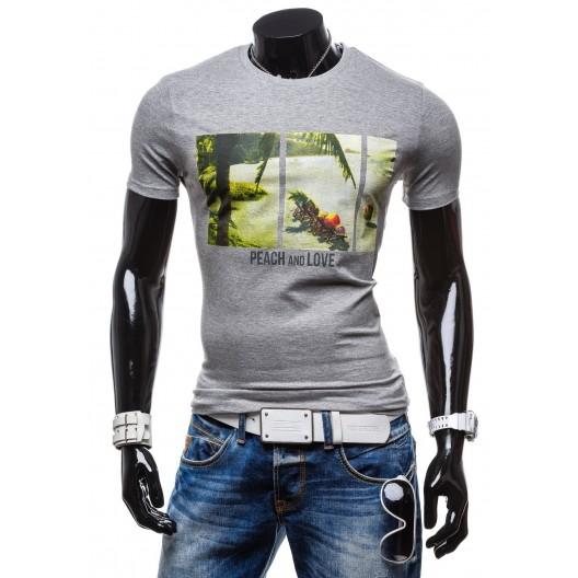 Tričko s krátkym rukávom antracitovej farby
