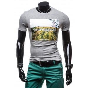 Tričko pre pánov v modernej sivej farbe