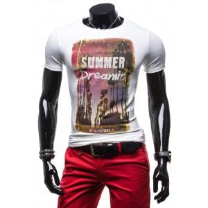 Tričko bielej farby s potlačou