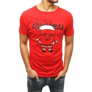 Štýlové pánske tričko v červenej farbe
