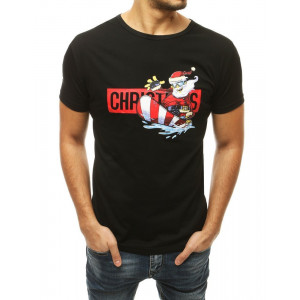 Krásne pánske tričká v čiernej farbe s okrúhlym výstrihom