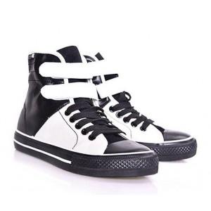 Čierno-biela dámska športová obuv