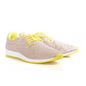 Dámska športová obuv zlatej farby