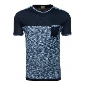 Tričko pre mužov grafitovej farby s vreckom