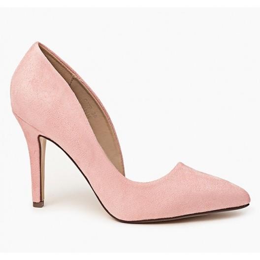 Asymetrické dámske lodičky ružovej farby