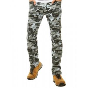 Moderné pánske maskáčové nohavice s bočnými vreckami