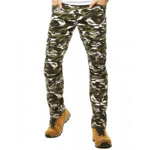 Pánske pohodlné nákladné nohavice v maskačovej farbe