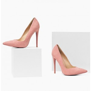 Ružové semišové dámske lodičky