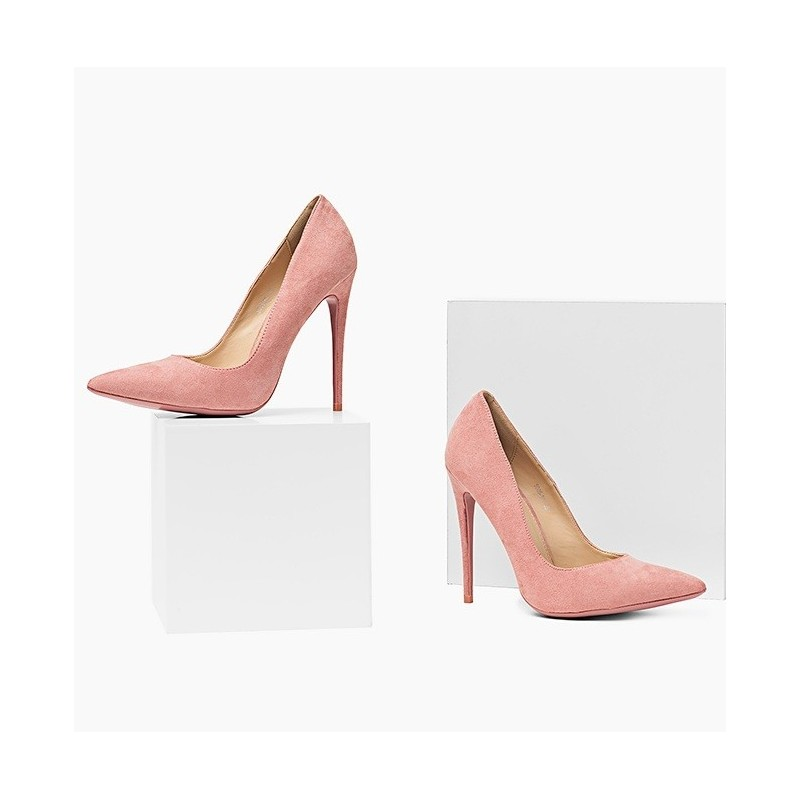 f9510995b4 Predchádzajúci. Ružové semišové dámske lodičky ...