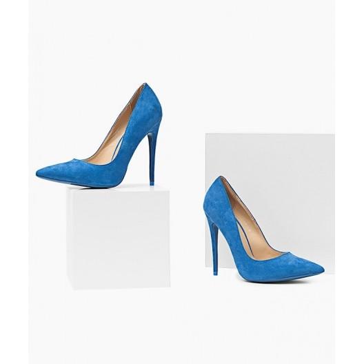 Dámske lodičky modrej farby