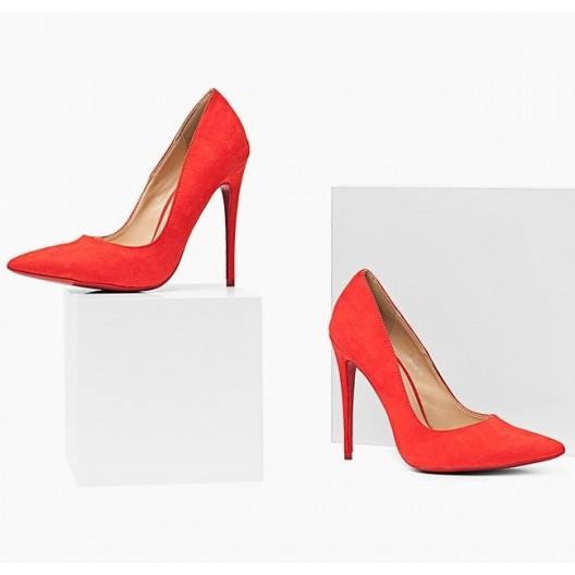 Moderné dámske lodičky červenej farby