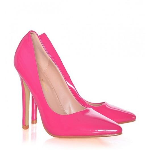 Neónovo ružové lodičky pre dámy
