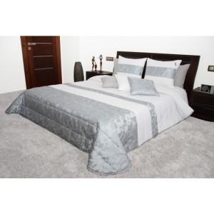 Bielo-strieborný prehoz na posteľ