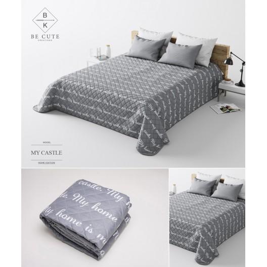 My castle svetlo sivý prehoz na postele