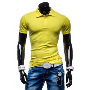 Pánska polokošeľa žltej farby s krátkym rukávom