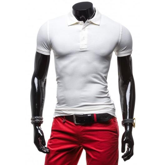 Elegantná pánska polokošeľa v bielej farbe