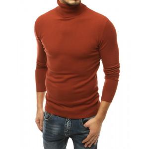 Krásny pánsky hnedý sveter cez hlavu