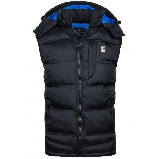 Pánske vesty čierno modrej farby
