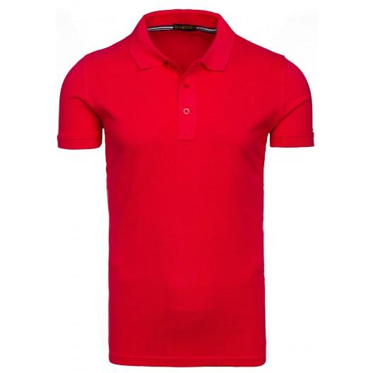 Formálna pánska polokošeľa červenej farby