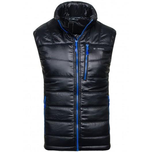 Pánska vesta tmavo modrej farby bez rukávov