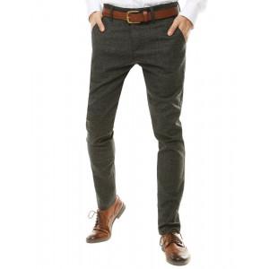 Pohodlné pánske Chino nohavice v tmavosivej farbe