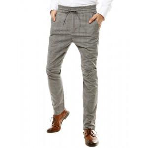 Pohodlné pánske Chino nohavice v sivej farbe