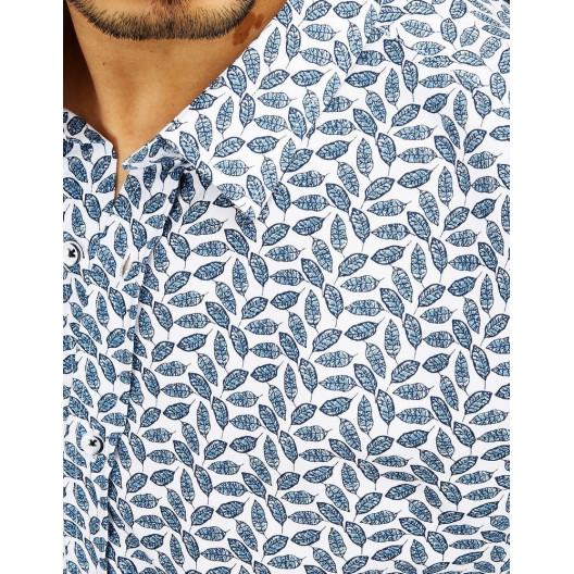 Pánska vzorovaná štýlová košeľa s dĺhym rukávom