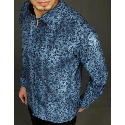 Pánska štýlová košeľa v modrej farbe