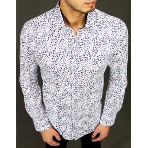 Pánska elegantná košeľa s bodkovaným vzorom