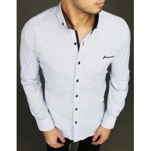 Krásna pánska vzorována košeľa s dlhým rukávom