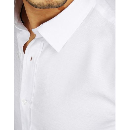 Elegantná pánska biela košeľa s dlhým rukávom