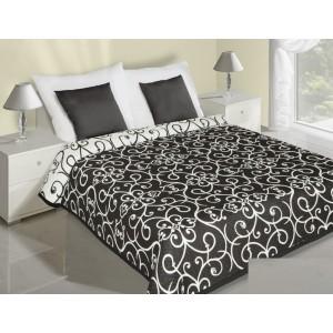Čierno biely prehoz na posteľ so vzorom