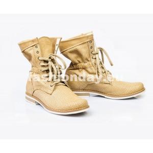 Dámske kožené topánky pieskové DT002