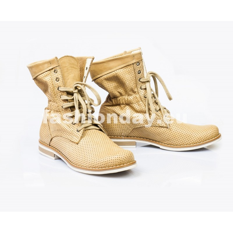 96bb309d01e0 Dámske kožené topánky pieskové DT002 - fashionday.eu
