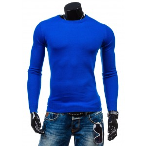 Pánsky sveter kráľovsky modrej farby
