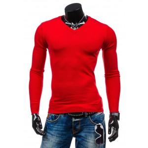 Pánsky červený pulóver