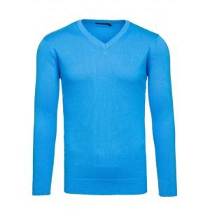 Moderný pánsky sveter svetlo modrej farby