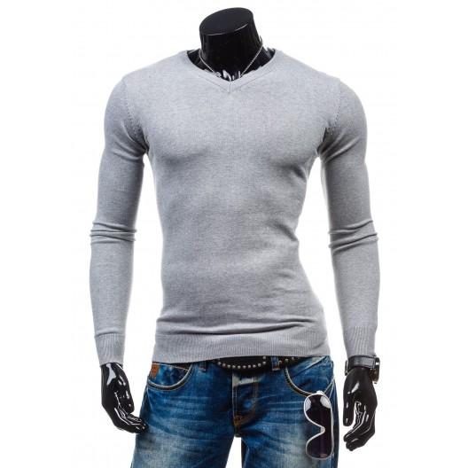 Štýlový pánsky sveter v sivej farbe