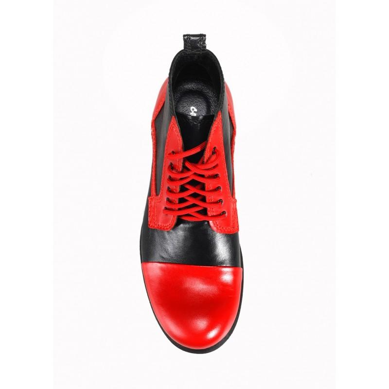 Čierno červené talianske pánske topánky COMODO E SANO - fashionday.eu b769981e41e