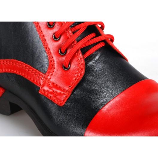 Čierno červené talianske pánske topánky COMODO E SANO