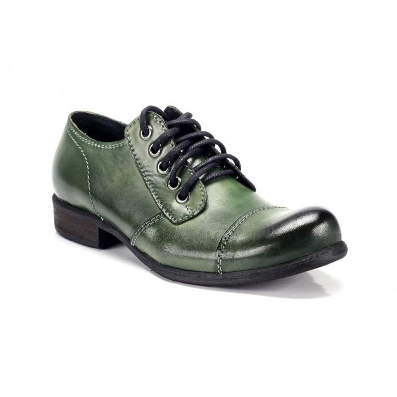 Zelené pánske kožené topánky COMODO E SANO - fashionday.eu 28f627416f0