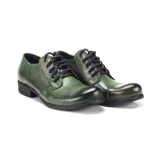 Zelené pánske kožené topánky COMODO E SANO
