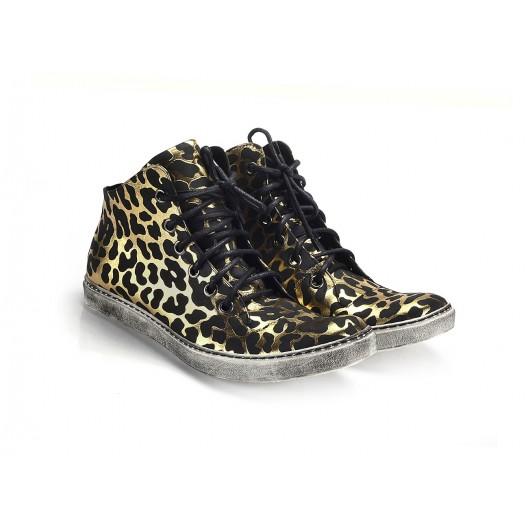 Športové pánske topánky čierno zlatej farby COMODO E SANO